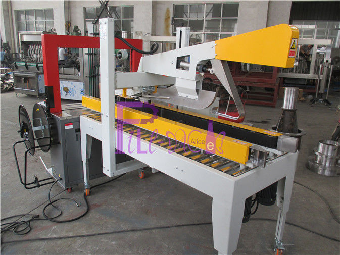 Industrial Carton Bottle Packaging Machine , Semi Automatic Box Sealing Machine