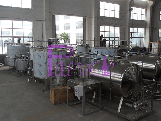 Electric Aseptic Juice Processing Equipment Mixing Sterilizing Machine